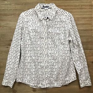 Boden Writing On The Wall Classic Button Down